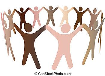 人間の人々, 多様, 調子, 皮膚, リング, 混ざり合いなさい