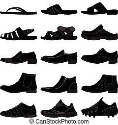 人, マレ, はき物, 男性, 靴