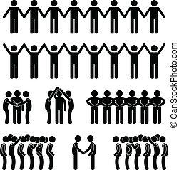 人, 統一, 合併した, 共同体, 人々