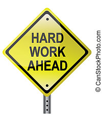 仕事, 懸命に, 前方に