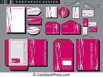 企業イメージの統一戦略, テンプレート