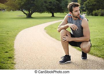 休む, 運動選手