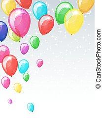 休日, balloons., 背景