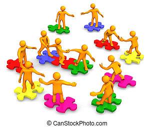 会社, チームワーク, ビジネス