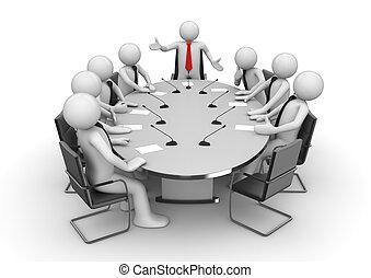 会議の会合, 部屋