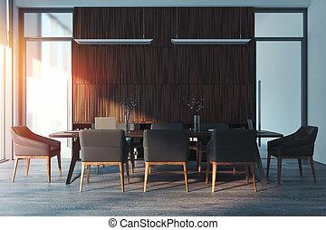 会議室, 現代, rendering., 明るい, interior., 3d