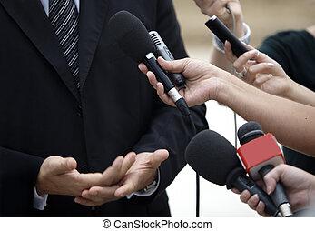 会議, ビジネス, ジャーナリズム, マイクロフォン, ミーティング