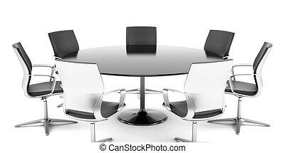 会議, ラウンド, 部屋