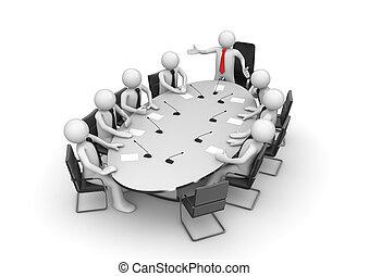 会議, 企業である, ミーティング部屋