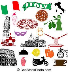 伝統的である, シンボル, イタリア, イタリア語