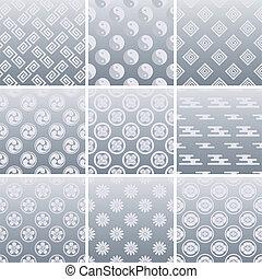 伝統的である, パターン, 日本語, 銀