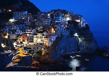 伝統的である, 地中海, manarola, イタリア, 建築