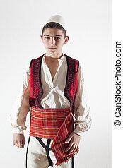 伝統的である, 男の子, 衣装, 若い