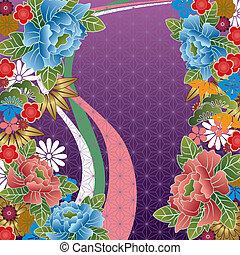 伝統的である, 花, 日本語, パターン