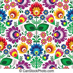 伝統的である, 花, seamless, パターン
