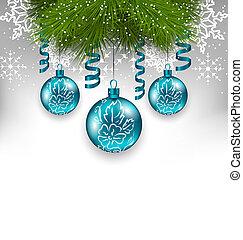 伝統的である, 装飾品, クリスマス, 背景