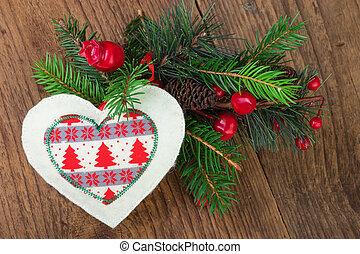 伝統的である, 装飾, 木, クリスマス