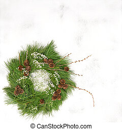 伝統的である, 装飾, 花輪, クリスマス, コーン