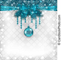 伝統的である, 要素, ちらちら光る, 背景, クリスマス