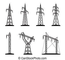 伝達タワー, 電気である, タイプ