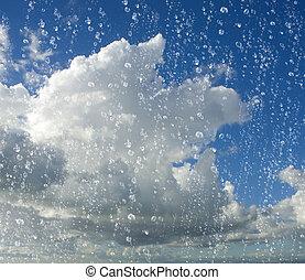 低下, 雨