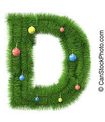 作られた, ブランチ, d, 木, 手紙, クリスマス