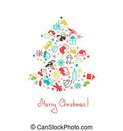 作られた, 木, クリスマス, 要素