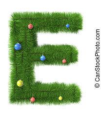作られた, e, 木, 手紙, ブランチ, クリスマス