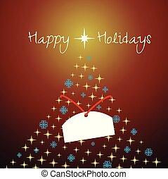 作られた, &, snowflakes., 木, 星, クリスマス