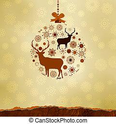 作られた, snowflakes., eps, 装飾, 8, クリスマス