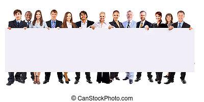 保有物, 人々, 旗, ビジネス, 背景, 長さ, 隔離された, フルである, 横列, 多数, ブランク, 白