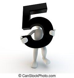 保有物, 人々, 特徴, 数5, 黒, 人間, 小さい, 3d