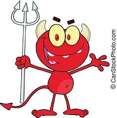 保有物, 干し草用フォーク, 赤, の上, 悪魔