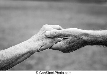 保有物, 年配の カップル, 手