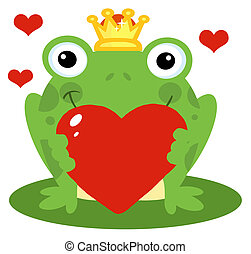 保有物, 心, カエル, 赤, 王子