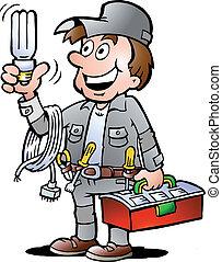 保有物, handyman, 電球