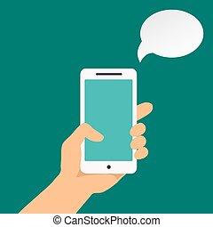 保有物, infographics, 手, smartphone
