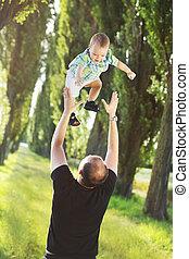 保護である, 父, 遊び, 息子