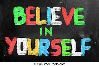 信じなさい, 概念, あなた自身