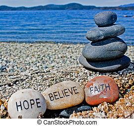 信じなさい, 石, 治癒, 信頼, 希望