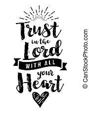 信頼, すべて, 心, 主, あなたの