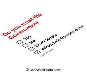 信頼, 政府