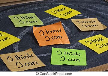 信頼, 概念, 自己, -, 缶, 知りなさい