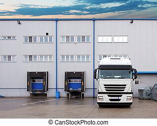 倉庫, -, 交通機関, トラック, 貨物