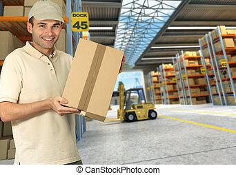 倉庫, 分配, 労働者