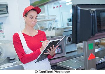 倉庫, 分配, 労働者, 女性
