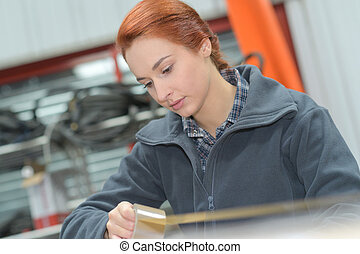 倉庫, 労働者, 女性