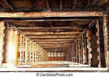 倉庫, 古い, 捨てられた