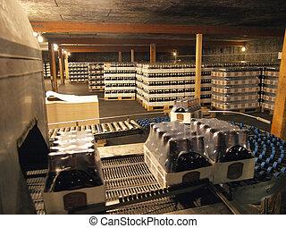 倉庫, 線, 包装, 醸造所