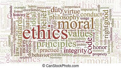 倫理, 単語, 原則, 雲